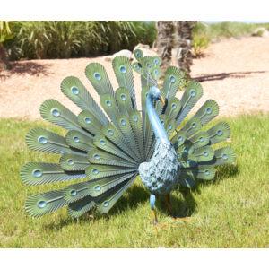Nortene  Peacock Páva figura fémből
